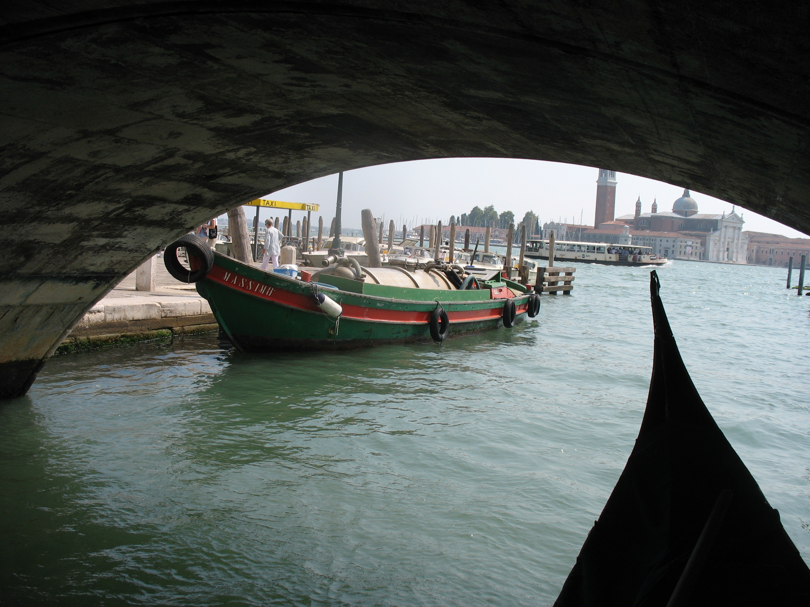 Drain boat at St Marco square