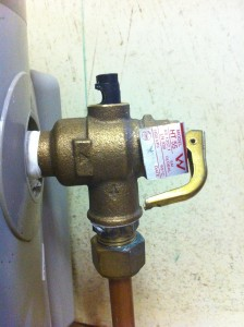Hot water T & PR valve