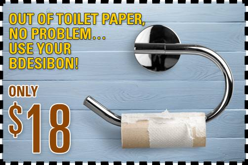 Out Of Toilet Paper, No Problem… Use YouR BdESIBON!
